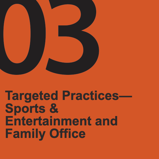 Targeted Practices — Sports & Entertainment and Family Office